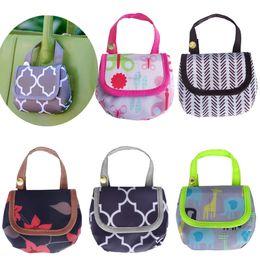 Wholesale baby pocket - Baby Diaper Bags Portable Nappy Pacifier Snacks pocket money Storage Bag print Diaper Bag Infant stroller bags C4408