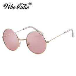 f2535ee324 WHO CUTIE Retro Women Colorful Round Sunglasses Brand Designer 2019 Fashion  Circle Pink Lens Small Sun Glasses Tint Shades OM773