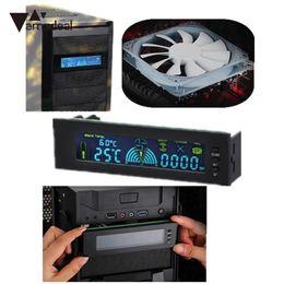 Controlador del ventilador caja de la computadora online-amzdeal 4.3 pulgadas LCD Screen Computer Case Fan Speed Controller Controlador de temperatura automático