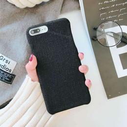 Canada Automne et hiver modèles de cas de téléphone portable de tissu de lin pour Iphone 6 7 8 X Plus ultra mince léger de haute qualité TPU de protection cheap iphone winter cover Offre
