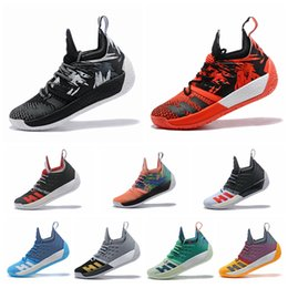 Wholesale best low cut basketball shoes - 2018 James Harden 2.0 Men's Basketball Shoes Wolf Grey 2017 Best Quality Competitive Sports Sneakers Training Boost US 7-12 Free Shipping