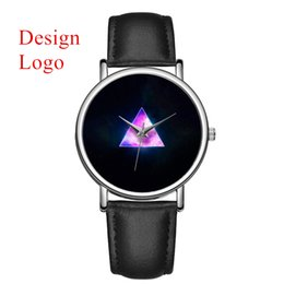 Наручные часы магазин онлайн-C-9001 MOQ 50pcs Custom  Your Own Photo Watch Unique Leather Causal Quartz Men Watches Customized Logo Birthday Gift Watch