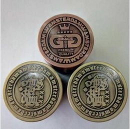 Wholesale Cheap Metal Grinders - 40mm 4 Layer Metal Amsterdam Herb Grinder Cheap Tobacco Grinders Magentic Designed Grinder With Scraper Smoking Accessories CCA9554 50pcs