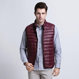 Wholesale Men S Clothing Goose - Wholesale- Fall 2016 men's lightweight down vest vest large size men's jackets men's casual and comfortable clothing brand WZ