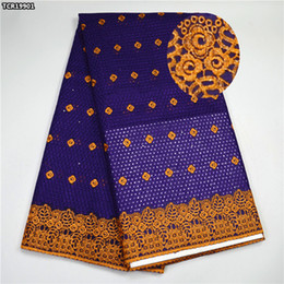Wholesale Swiss Voile Lace Sale - Purple lace fabric African Swiss voile lace fabric high quality Nigerian cotton lace fabric top sale for lady dress TCR199