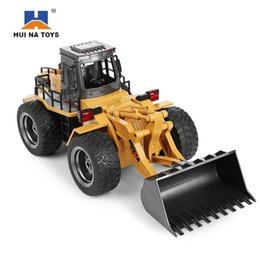 Wholesale 6ch rc receiver - Huina1520 Rc Car 6ch 1  14 Trucks Metal Bulldozer Charging Rtr Remote Control Truck Construction Vehicle Cars For Kids Toys Gifts