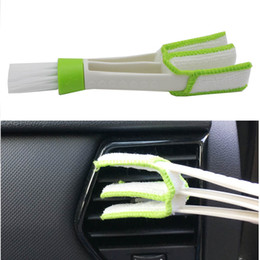 Wholesale Air Conditioning Vent Accessories - Car Air Freshener Brush clean ir Conditioning Vent Blinds Cleaning Brush For Series Part Accessories