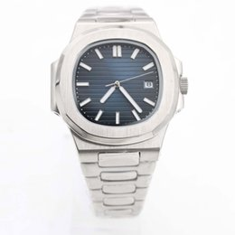 Wholesale geneva style watch - AAA Watch 40MM Nautilus Style Geneva Series 316L Stainless Steel Strap Blue Sapphire Mirror Blue Dial Automatic Movement