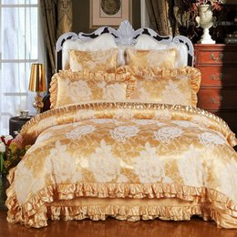 Wholesale Silk King Size Bedspreads - Hot sale cotton satin bedding set queen king size 4pc or 6pcs bed set (duvet cover +quilted bedspread+pillowcases)