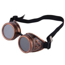 Óculos de soldagem on-line-Profissional Cyber Óculos Steampunk Óculos de Solda Do Vintage Do Punk Gótico Vitoriano Esportes Ao Ar Livre Óculos De Sol