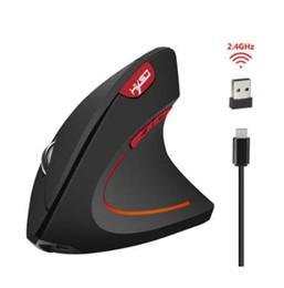 mouse del polso Sconti Mouse wireless T22 Ergonomico ottico 2.4G 800/1200 / 1600DPI Colorful Light polso Healing Vertical Mouse per PC Windows