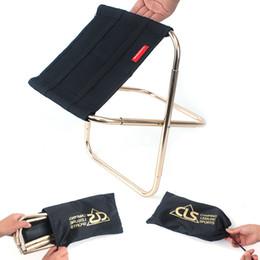 Mobiliário de alta qualidade on-line-Cadeira Dobrável Para Ao Ar Livre Camping Pesca Cadeiras Portáteis de Metal Resistente Multifuncional Mini Banquinho Do Trem Móveis de Alta Qualidade 27gt Z