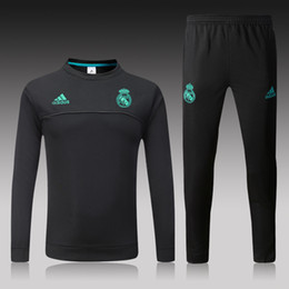 Wholesale football training clothing - Luxury Brand Tracksuit Soccer Designer AD Sweat Suits For Men Football Team Training Suit Crew Neck Long Sleeve Sport Clothing