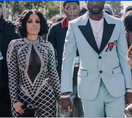 Wholesale Evening Dresses Kim Kardashian - Evening dress Yousef aljasmi Kim kardashian Mermaid High Collar Long sleeve Long dress Almodal gianninaazar Keyshia KaoirZuhair murad