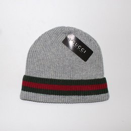c78fad55d93 red white striped beanie Coupons - Hight quality men women autumn winter  beanie casual knitted sports