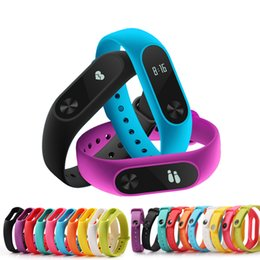 2019 bande portative Accessoires intelligents pour Mi Band 2-Bracelet en silicone portable de remplacement de bracelet pour Xiaomi Mi Band 2 bracelet coloré bande portative pas cher