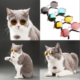 Wholesale glasses photo frame - Pet Accessories Cat Dog Glasses Pet Sunglasses Small Dogs Cat Eye-wear Protection Pet Cool Glasses Photos Props KKA5210