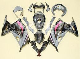 Wholesale Pink Kawasaki Fairing Kits - New ABS Injection Fairing kits fit For Kawasaki Ninja300 13 14 15 16 17 Ninja 300 EX300 2013 2014 2015 2016 2017 black pink+Tank cover