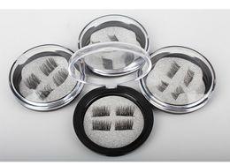 2019 cuadro mixto al por mayor de maquillaje Magnetic Eye Lashes 3D Visón Reutilizable Falso threeMagnet Eyelashes Extension Extensiones de pestañas 3d pestañas magnéticas maquillaje uujuly