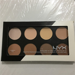 Wholesale Wholesale Grooms Wear - Free shipping NYX Highlight & Contour Pro Pattle Review Face Pressed Powder Foundation Grooming Shadow Powder Palette 8 Colors Highlighters