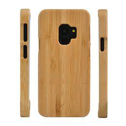 Примечание со скидкой онлайн-Большая скидка мобильный телефон Case деревянные чехлы для Samsung Galaxy S9 Plus S8 S7 Примечание 8 S6 edge мода деревянный смартфон Case бамбук жесткий обложка