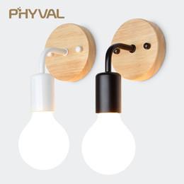 Настенный светильник Modern Wood LED Настенный светильник E27 Ресторан светильники Прикроватная спальня светильник Lamparas Loft Vintage Industrial Decor от