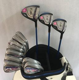 Juego completo para mujer Clubes de golf para mujeres Conductor # 3 # 5 Maderas de calle + 456789PSA Hierros Eje de grafito Damas Flex EMS Envío rápido desde fabricantes