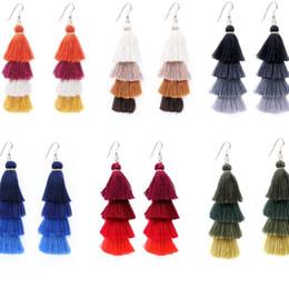 orecchini etnici di moda fatti a mano Sconti gioielli di design Bohiman nappa orecchini lunghi orecchini muiltlayer etnici fatti a mano per le donne moda calda senza spese di spedizione