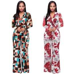 39d535bae91 wide leg jumpsuit styles 2019 - 2018 new Women Jumpsuits   Rompers Fashion  floral printing Sexy