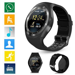 """Wholesale Call Tracking - Y1 Smart Watch 1.54"""" Touch Screen Fitness Activity Tracker Sleep Monitor Pedometer Calories Track Support SIM Card Solt pk DZ09"""