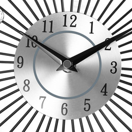 Wholesale Vintage Diamond Watches - China Suppliers Original Vintage Metal Art Luxury Diamond Large Wall Watch Orologio Da Parete Clock Morden Design Home