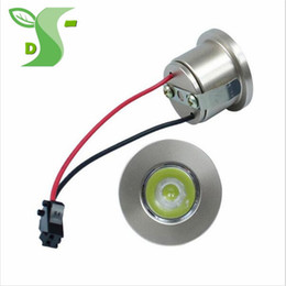 Wholesale 32mm Led - 1W 3W Mini downlight 32mm*20 Led Cabinet Lamps white silver Recessed Led Spot light lamp whit driver For Kitchen Wardrobe