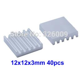 Wholesale Ic Heatsink - 40pcs 12x12x3mm Utral-thin Extruded Aluminum heatsink IC Chip VGA Memory Routers Northbridge Southbridge CMOS radiator