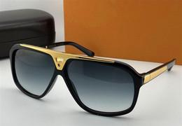 Wholesale millionaire sunglasses - top quality hot men brand designer sunglasses millionaire evidence sunglasses retro vintage shiny gold summer style Z0350W