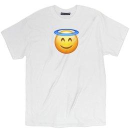 T-shirts emoji gesichter online-Misky Stone Angel Face Emoji Lustiges locker sitzendes heiliges T-Shirt T