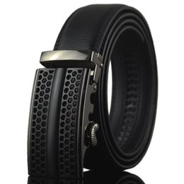 "Wholesale 95 Cars - Black devil2 genuine Leather Belts for Men High Quality Male Brand Automatic Ratchet Buckle belt 1.25 ""35mm Wide 95-130cm long"