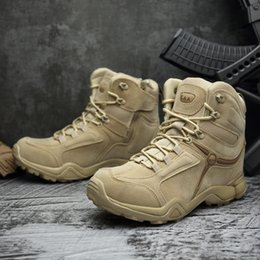 2018 Men Outdoor Ankle Boots Army Tactical Waterproof Boots Military Desert  Combat Mountain Climbing Anti-skid Hiking Boots EUR39-46 37bd10bb3