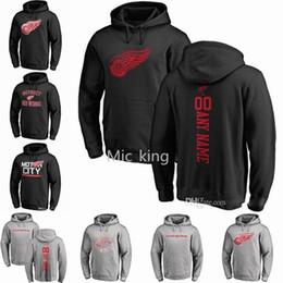 Wholesale Detroit Hoodie - 2018-19 NHL DETROIT RED WINGS hoodies 71 Dylan Larkin 40 Henrik Zetterberg any custom Name and Number Player sweatshirts