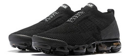 2019 luz fluorescente plana Nike vapormax airmax air max 2018 Hot Chaussures Moc 2 Laceless 2.0 Casual Shoes Triple Designer Hombre Mujer Zapatillas Fly black knit Deportes Air colchón Zapatillas de deporte
