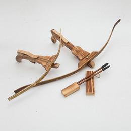Spielbögen spielen online-Bambus Bogen und Pfeil Big Size Machinery Armbrust 3 Holzpfeile mit Saugnäpfen - für Indoor und Outdoor Play
