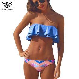Wholesale Hot Sexy Bikini Women - 2018 Sexy Bandeau Bikinis Women Swimsuit Brazilian Bikini Set Beach Bathing Suit Push Up Swimwear Hot Biquini Swim Wear