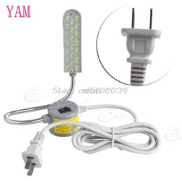 Wholesale Wedge Base - Sewing Machine 20 LED 220V Magnetic Base Flexible Mounting Light Lighting Lamp M10 dropship