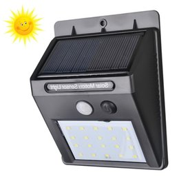 Wholesale solar charged - Garden LED lights Solar infrared induction Sunlight adequate Charging 1 time can work continuously for 3-4 days.