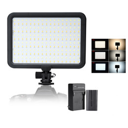 Paneles de fotos online-204 PCS Beads Led Video Light Panel Bi-color Temperature 3200K-5600K Photo Camera Studio Iluminación LED + Batería + Cargador
