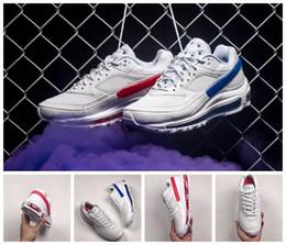 df93720cb1 mens slip athletic shoes Promo Codes - 2018 New Skepta 97 BW Red Blue Men  Women