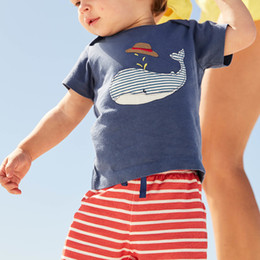 Wholesale Boys Spring Suit - Children Summer Clothing Short Sleeve Animal Appliques Fashion Tracksuit for Boys Sport Suits 100% Cotton Boys Clothing Sets
