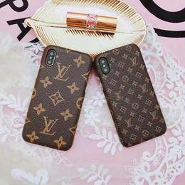 2019 telefone inteligente a prova de choque à prova d'água Luxo marca de couro grade phone case para iphone x xs max xr 6 6 s 7 8 8 plus case para galaxy s9 s8plus note9 8 moda de volta telefone tampa traseira