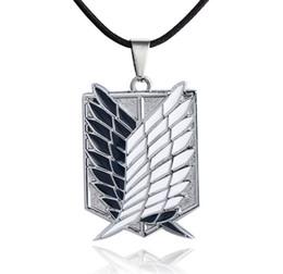 Металл аниме нападение на крылья свободы титана ожерелье Shingeki нет Kyojin косплей оболочки ожерелья обследования от Поставщики ожерелье shingeki