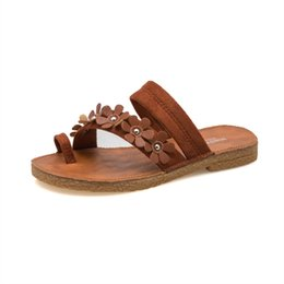 Wholesale Wholesale Quality Flip Flops - High Quality Women Fashion Summer Slipper Lady Outdoor Scuff Casual Beach Holiday Soft Lofers Slip On Sandal Open Toe Bohemia Flip Flops