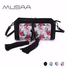 Wholesale leather harnesses for women - MUSAA Fresh Simple Small Sling Shoulder Bag for Women PU Leather Crossbody Bags Detachable Harness Handbag Multi-color Optional